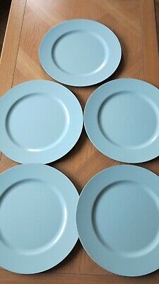 5 Duck Egg Blue Plate Chargers Christmas Dinner Placemats