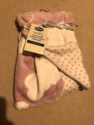 Pink Girls Soft Blanket New