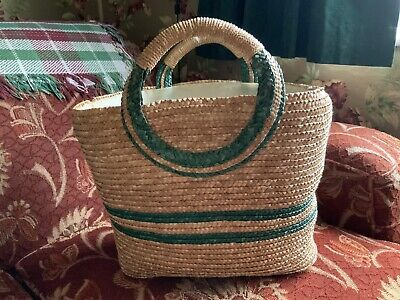 Vintage 1940s/50s Wicker Shopping Bag.