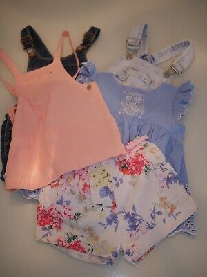*Bundle of Girls Clothing shorts dress dungarees ages 18-24 month 2-3 years old*