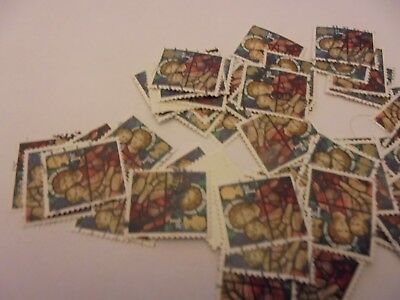 90 x 1st Class  Xmas GB Stamps Madonna & Child - Used- Off Paper- 2009