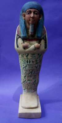 ANCIENT EGYPTIAN ANTIQUES USHABTI SHABTI With HIEROGLYPHICS Servant King 1710 BC