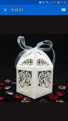 Wedding Favour Boxes Sweets Gift Table Decorations Pearlised Ivory  Luxury UK