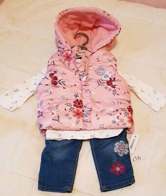 Age 3-6 Months Girls Jeans Top Gilet Outfit Bnwt