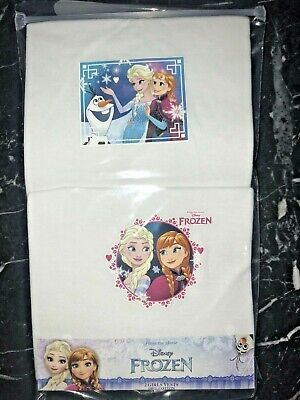 BNIP 2 Pack FROZEN Girls Vests 100% Cotton Ana Elsa Olaf Age 4-5 yrs White