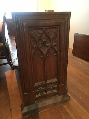 Magnificent Antique Hand Carved Church Pew
