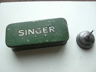 Singer Sewing Machine Parts Tin And Oil Can