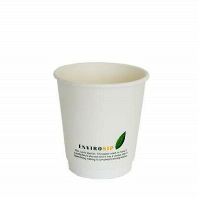 10oz Biodegradable Double Wall Coffee Cups [10oz, 50-500pcs] Compostable PLA Cup