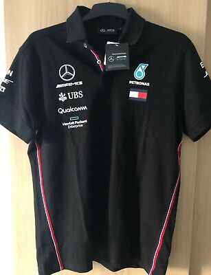 Mercedes AMG Petronas Motorsport 2019 F Mens Driver Polo Shirt Size Large NEW