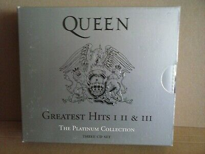 'Queen - Greatest Hits 1,2 & 3' The Platinum Collection (CD, 3 disc box set)