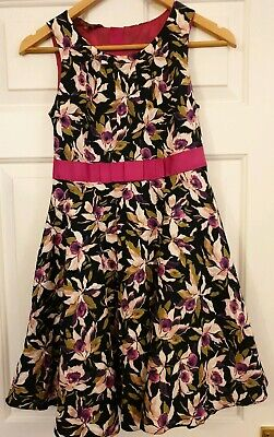 Ted Baker Girls Beautiful winter floral  Dress Age 13 Yrs