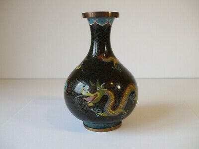 Early 20th Century Chinese Cloisonné Dragon Vase