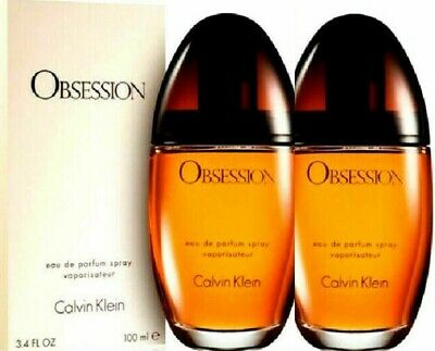 2 X OBSESSION By Calvin Klein Perfume For Women 3.4 oz EDP Spray NEW IN BOX