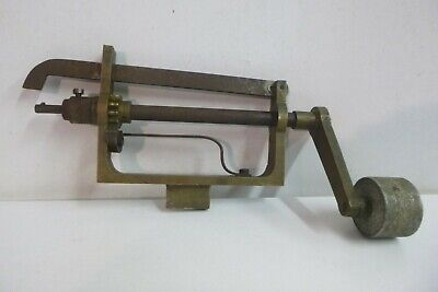 Large Traditional Clock Mainspring Winder Tool. Popular Progress, England.
