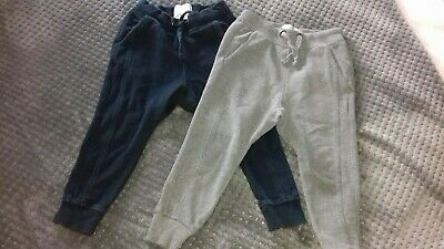 2 X Zara Tracksuit Bottoms blue and grey age 4