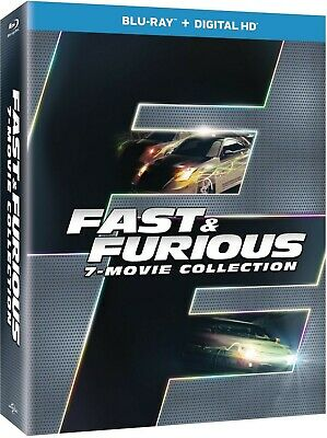 Fast & Furious 7-Movie Collection Blu-Ray (NO DIGITAL HD)  FREE SHIPPING!!