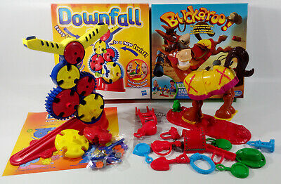Buckaroo and Downfall Board Game Xmas Family Fun Toy Bundle - COMPLETE VGC