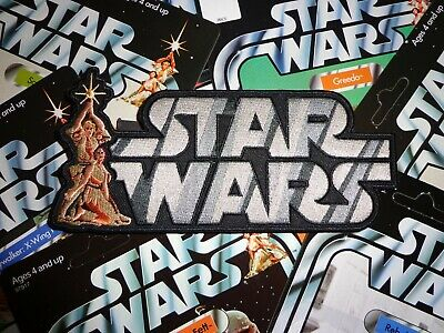 """Hasbro Kenner STAR WARS'78 Vintage style toy logo 7"""" iron-on patch+GLOBAL SHIP"""