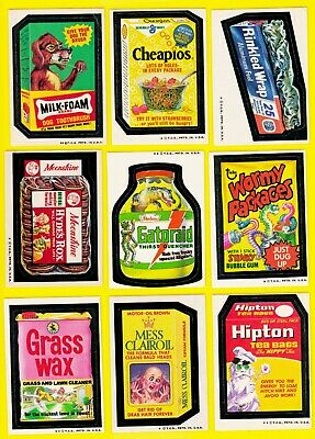 1974 Original Wacky Packages Series 4 Mess/Windhex Full Set + Puzzle