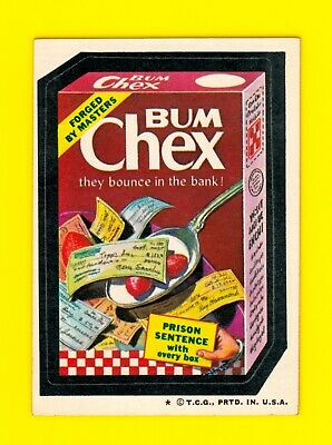 1974 Original Wacky Packages 4th Series Bum Chex - Nice