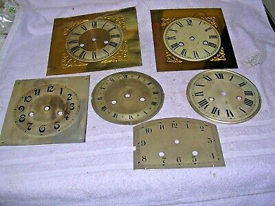 Clock  Parts     ,6 Metal  Clock  Faces