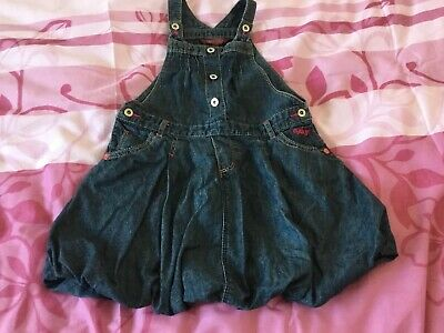 Ted Baker Denim Girls Pinafore Dress Age 5 - 6 Years