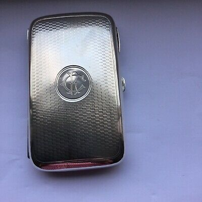 Superb Antique Solid Silver Cigar Case B/ham 1902 Heavy Guage