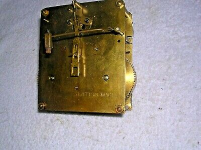 CLOCK  PARTS  ,aGOOD . BRASS  MOVEMENT  , G.W.O.
