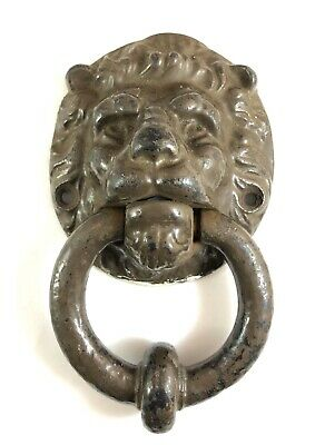 Vintage Large Cast Iron Lion Head Door Knocker Heavy 7.5 Inch Georgian Antique?