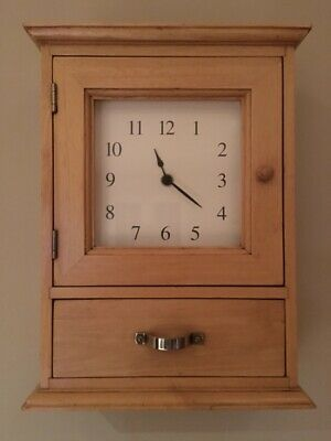 Marks And Spencer Wall Clock/Key Cupboard With Draw