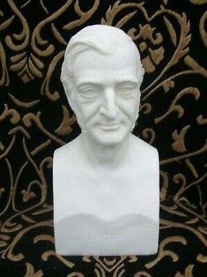Emerson - Ralph Waldo - Large Parian Bust By James Wilson ? 1879-1897