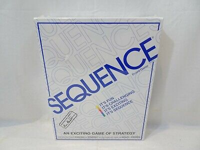 SEQUENCE Board Game 1995 NEW Strategy JAX Family Factory Sealed