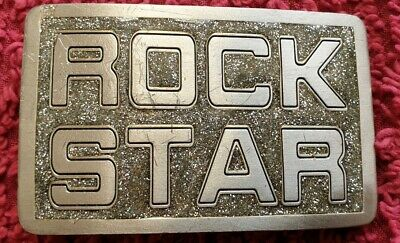 Rock Star Vintage Fine Pewter 2001 Belt Buckle Limited Edt No 4601