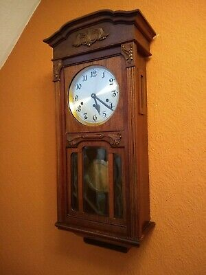 Vintage Mahogany Musical Westminster Chime Wall Clock Antique circa 1915