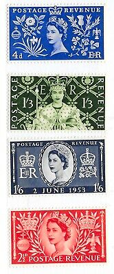 GB 1953 Commemorative Stamps~Coronation~Light Mounted Mint GB3057