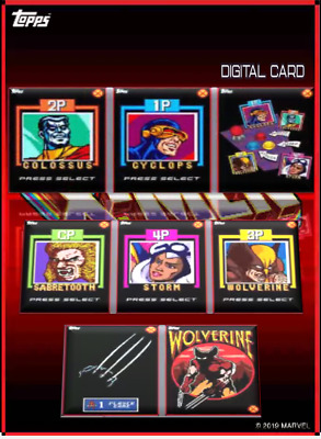 2019 X-ARCADE COMPLETE SET OF 8 CARDS Topps Marvel Collect Digital Card