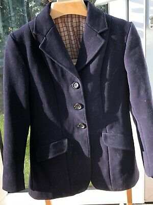 Moss Bros Small Ladies/ Girls black lined riding/ hunt jacket size 8-10