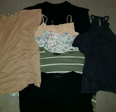 Bundle Womens Size 14 Tops Next H&M New Look F&F Stripes Floral Lace Glitter