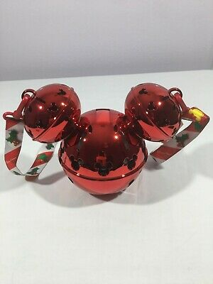 Disney Parks Christmas Holiday 2019 Mickey Jingle Bell Ornament Sipper NEW