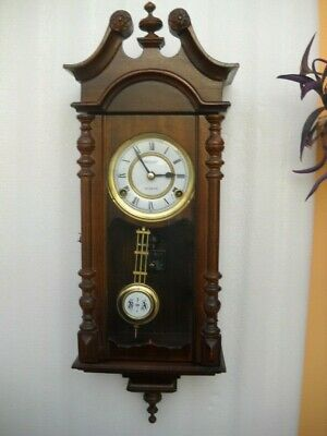 Nice Little Vienna Style 31 Day Wall Clock In G.w.o.
