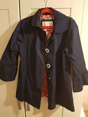 Michael Kors Girls Jacket,  In Navy blue,  Size 7 - 8 Years,  Front Buttons, ...