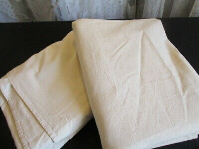 Vintage French Unbleached Cotton Sheets, PAIR, New/Old Stock