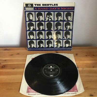 BEATLES A Hard Days Night LP UK 69-70 RARE! 1 Box PARLOPHONE Excellent Vinyl !!