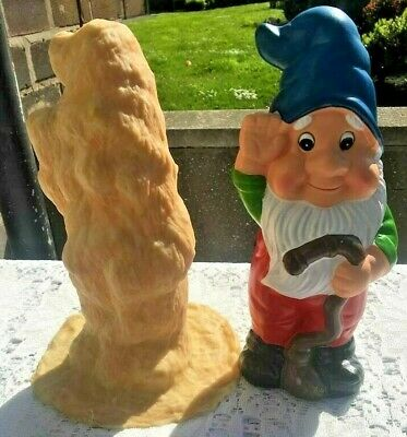 Large Latex Gnome Mould 10 Inch High Set x 4  NO RESERVE