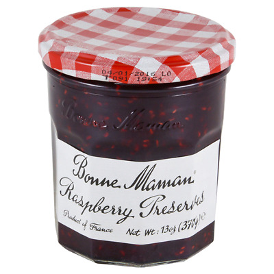 Lot 6 Jars Bonne Maman Raspberry Preserve, 13 oz Each
