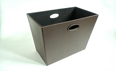 Storage Organiser - Magazine Rack in Quality Brown Faux Leather