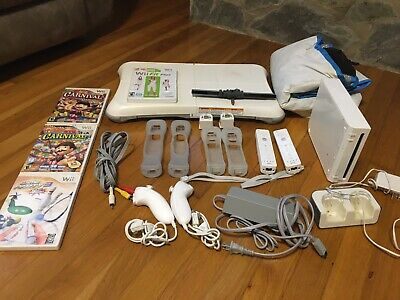 Nintendo Wii Bundle Launch Edition White Console RVL-001 Games And Lots Extra