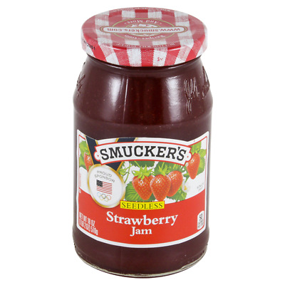 Lot 6 Jars Smucker's Seedless Strawberry Jam, 18 oz Each