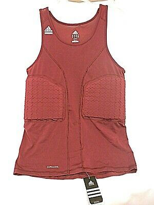 ADIDAS 2XT Basketball TECHFIT Padded Tank Top Shirt Compression Maroon Red  New