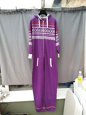 Influence Purple Nordic Fair Isle Print Sweatshirt Fabric All In One Size XXL